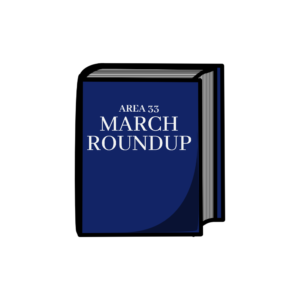 AREA 33 MARCH ROUND UP LOGO